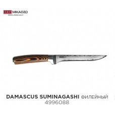 Нож филейный Mikadzo Damascus SUMINAGASHI