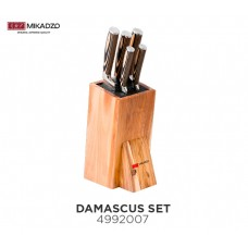Набор ножей Mikadzo Damascus + подставка