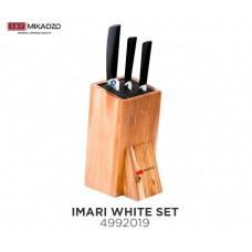 Набор из 3 ножей MIKADZO IMARI-W+подставка